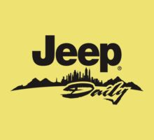 Jeep daily black Baby Tee