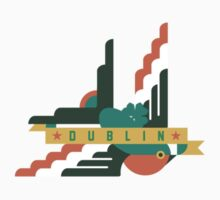 Flat design swallow - Dublin Kids Tee