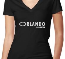 Orlando Florida Women's Fitted V-Neck T-Shirt