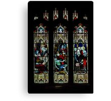St Mary church-stained glass1  Canvas Print
