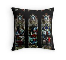 St Mary church-stained glass1  Throw Pillow