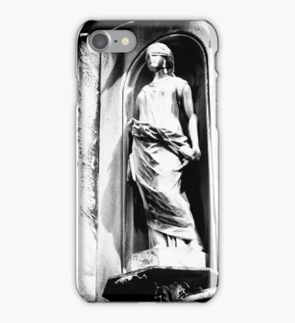 Black and White - blindfold statue, Allegheny (2010) iPhone Case/Skin