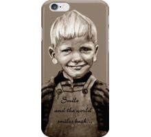 Smile and the world smiles back... :) iPhone Case/Skin