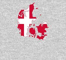 Flag Map of Denmark  Unisex T-Shirt