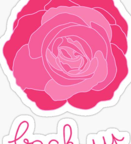 Back up - Pink Rose Sticker