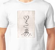 Scribbles Loves You Litho Doodle Unisex T-Shirt