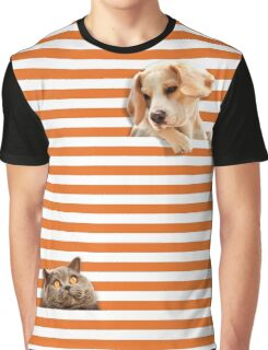 Cat vrs Dog Graphic T-Shirt