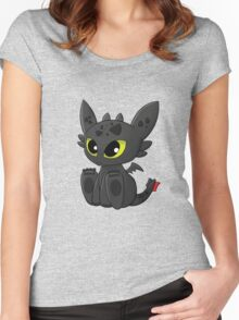 How To Train Your Dragon, Toothless Women's Fitted Scoop T-Shirt