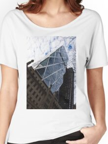 Hearst Tower Through the Bare Branches - Midtown Manhattan, New York City, USA Women's Relaxed Fit T-Shirt