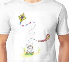 Scribbles Flying Kites Doodle Unisex T-Shirt
