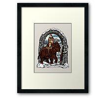 Rider Mammoth Framed Print