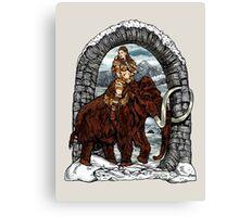 Rider Mammoth Canvas Print