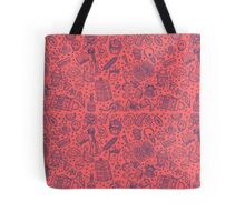 Popculture & Food Pattern Tote Bag