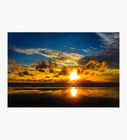 Beach Sunset Photographic Print