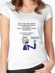 rick bernie sander Women's Fitted Scoop T-Shirt