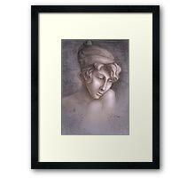 Greek woman Sapho Framed Print