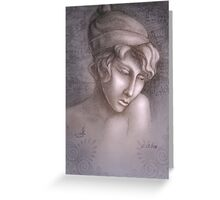 Greek woman Sapho Greeting Card