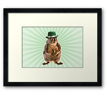 St Patricks Day Squirrel Framed Print