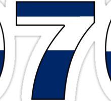 Colorado flag 970 area code Sticker