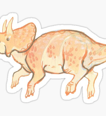 teensy triceratops Sticker