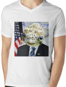 Fish Obama Mens V-Neck T-Shirt