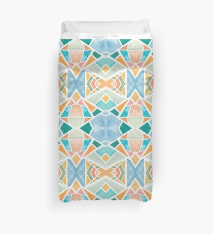 Original Hand Painted Watercolor Pattern South by Southwest Duvet Cover