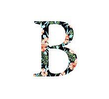 Beta Floral Greek Letter Photographic Print