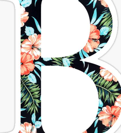 Beta Floral Greek Letter Sticker