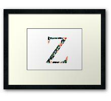 Zeta Floral Greek Letter  Framed Print