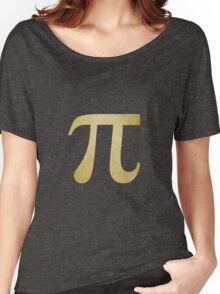 Yellow Pi Symbol Women's Relaxed Fit T-Shirt