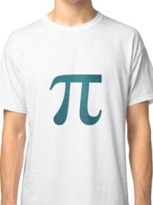 Navy Blue Pi Symbol Classic T-Shirt