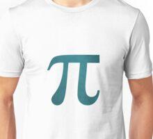 Navy Blue Pi Symbol Unisex T-Shirt