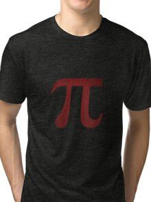 Crimson Pi Symbol Tri-blend T-Shirt
