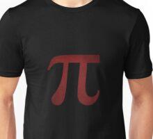 Crimson Pi Symbol Unisex T-Shirt