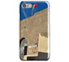 Facade of the medieval castle of Castro Marim iPhone Case/Skin