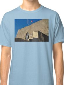 Facade of the medieval castle of Castro Marim Classic T-Shirt