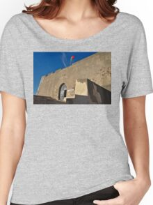 Facade of the medieval castle of Castro Marim Women's Relaxed Fit T-Shirt