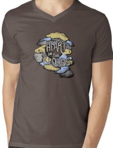 Heart in the Clouds Mens V-Neck T-Shirt