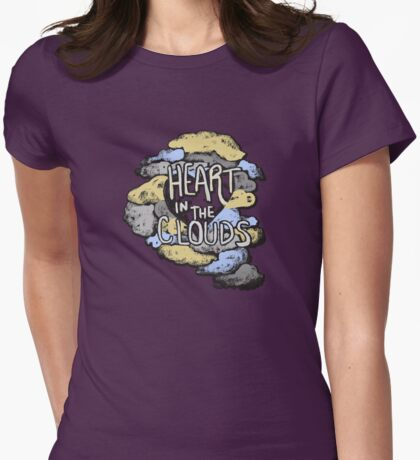 Heart in the Clouds Womens Fitted T-Shirt