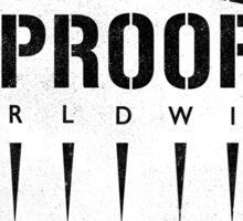 Bulletproof Worldwide Sticker