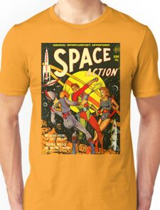 SPACE ACTION Comic T-Shirt