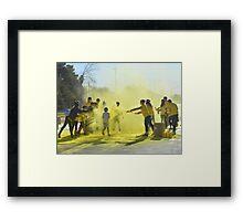 Color Run 5K Framed Print
