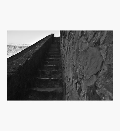 Medieval Castle Staircase in Castro Marim Photographic Print
