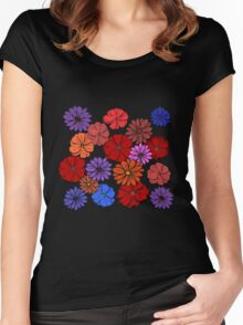 Abstract #393 Flower Power #4 Women's Fitted Scoop T-Shirt