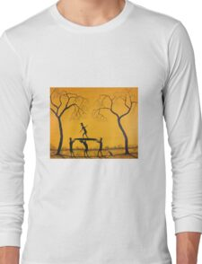 "Ned Kelly Surf ""Surfing Practice""  Original Acrylic Painting; FOR SALE          Long Sleeve T-Shirt"