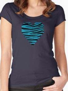 0051 Blue Green Tiger Women's Fitted Scoop T-Shirt