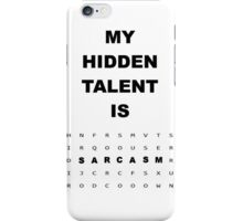 Witty Word Search Sarcasm Is Hidden Talent iPhone Case/Skin