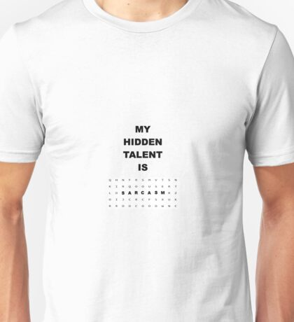 Witty Word Search Sarcasm Is Hidden Talent Unisex T-Shirt