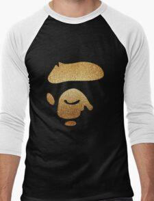 A Bathing Ape Gold Men's Baseball ¾ T-Shirt