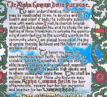 Alpha Gamma Delta Purpose Sticker